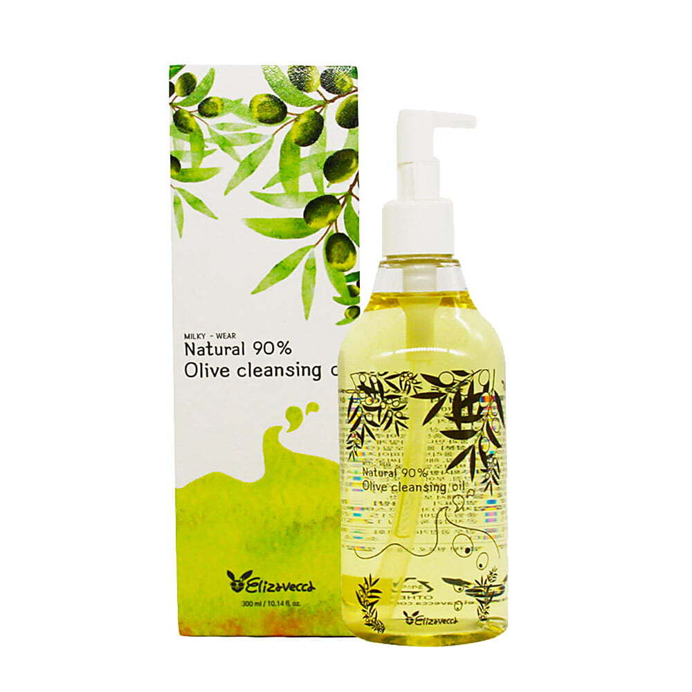 Elizavecca Гидрофильное масло ОЛИВА Natural 90% Olive Cleansing Oil, 300 мл